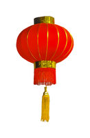 Chinese Style Antique Lamp Isolated