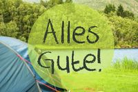 Lake Camping, Alles Gute Means Best Wishes