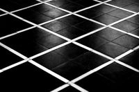 Abstract floor tiles