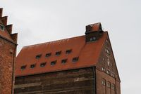 Old warehouse in the harbour of Stralsund