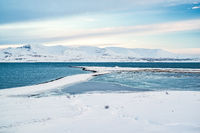 View of the Hvalfjordur in winter, Iceland