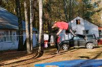 slackline, acrobatics on a rope, walking on a sling