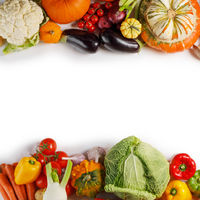 Vegetable harvest background