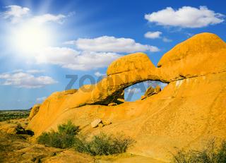 Natural array of bald granite outcrops
