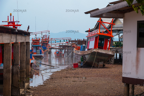 Port pier at Koh Lanta, Thailand
