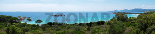 Panoramaaussicht Palombaggia - Tamaricciu - Korsika