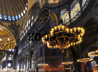 The interior of Hagia Sophia. former Orthodox Christian patriarchal cathedral
