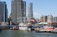 Sailing Boat at Pier 15 in Lower Manhattan, NYC