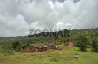 Village at Koynanagar, Maharashtra, India