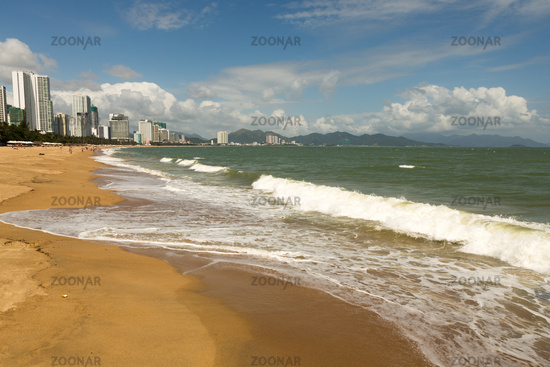 Nha Trang city beach in good weather