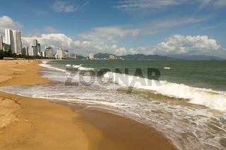 Nha Trang city beach in good weather
