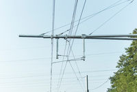 Detail of overhead contact wire from E-Highway