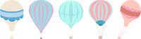 Classic Hot Air Balloons Vector