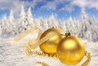 Christmas decoration and landscape