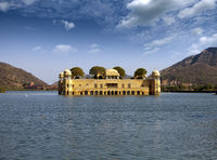 India. Jaipur. Water palace- Jal Mahal