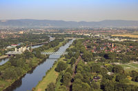 River landscape, Neckar, Germany