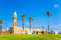 The restored minaret