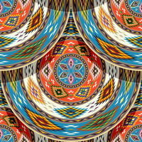 Native american indian tile 3