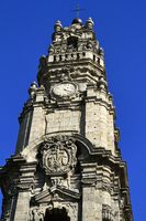Clerigos Tower, one of the landmarks and symbols of the city of Porto, Portugal.
