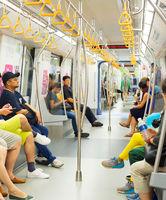 People travel metro train. Singapore