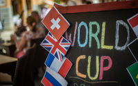World Cup Football Sign