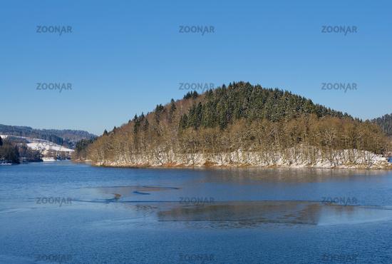 Agger Reservoir in Bergisches Land,North Rhine westphalia,Germany