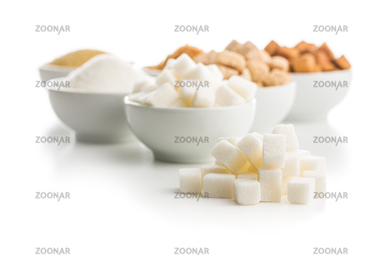Brown and white sugar.