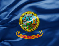Waving state flag of Idaho - United States of America