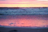 sunrise on the coast, purple sky at sunset, sunset on the sea