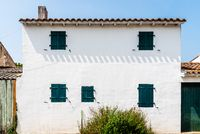 Facade of traditional house in the Island of Re