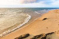 Deserted and paradisiacal beach on Ilhabela Island