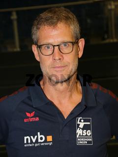 Cheftrainer Geir Sveinsson, HSG Nordhorn-Lingen,  Liqui Moly HBL, Handball-Bundesliga Saison 2019-20