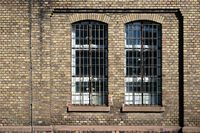 Disused factory with brick walls
