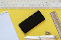 Smartphone and office props