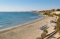 Cabo Roig sandy beach in Spain