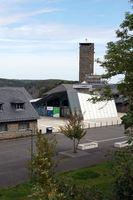 Ordensburg Vogelsang, früher Ausbildungsstätte des nationalsozialistischen Hitler-Regims, heute Museum und Nationalpark Besucherzentrum