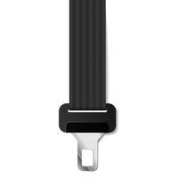 Realistic safety belt lock on white