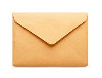 Brown craft envelope, mock-up