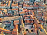flight over Ancony city