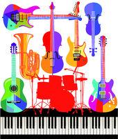 Musical Instruments - Jazz - Illustration