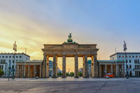Berlin Germany, sunrise city skyline at Brandenburg Gate (Brandenburger Tor)