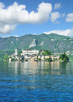 Isola san Giulio at Lake Orta,Piedmont,Italy