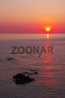 Sonnenuntergang - Fautea - Korsika
