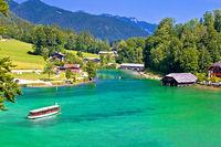 Konigssee Alpine lake coastline view
