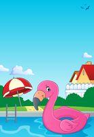 Flamingo float theme image 2