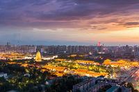 xian cityscape of big wild goose pagoda