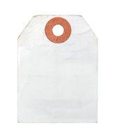Vintage Paper Label Or Luggage Tag