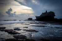Pura Tanah Lot temple at sunset, Bali, Indonesia