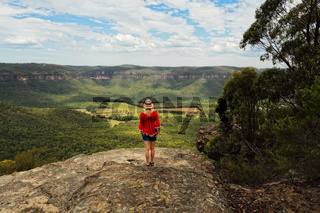 Taking in the magnificent views of valley and mountain escarpments