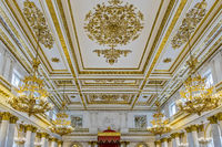 Large Throne Room Ceiling, The Hermitage St. Petersburg Russia